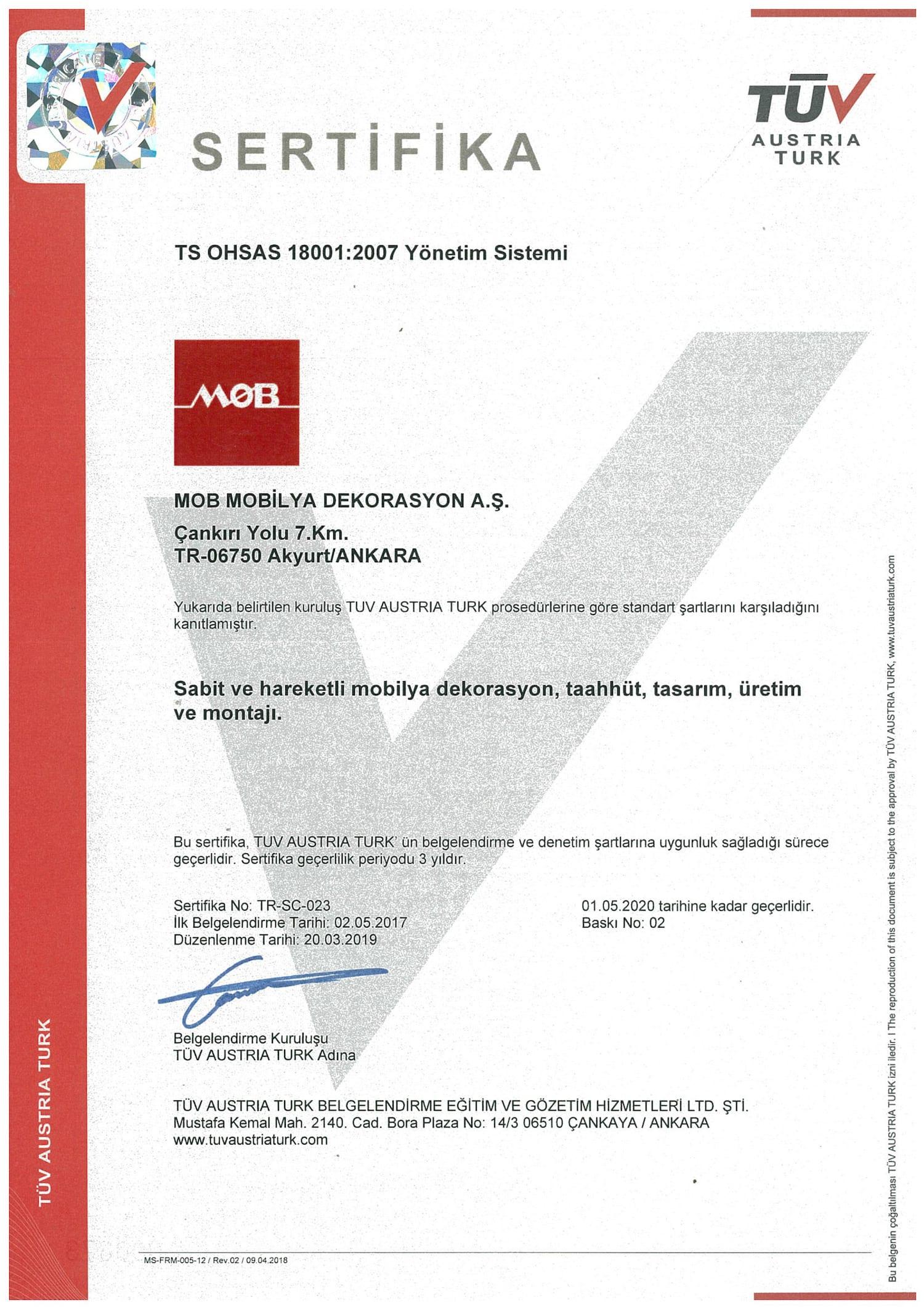 OHSAS 18001 TR-1